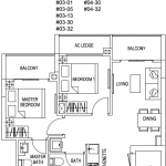 Kensington Square Floor Plan 2BR