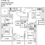 Kensington Square Floor Plan 3 Bedroom Dual Key